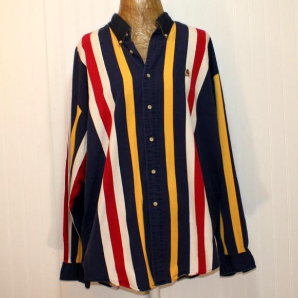 12b20494 Vintage Tommy Hilfiger XXL Striped Shirt. M_5bd750d0f63eea98422e387f